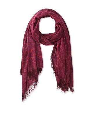 72% OFF Theodora & Callum Women's Ocelot Fringe Scarf, Red, One Size