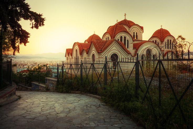 Thissio, Athens Saint Marina by Kirlian667.deviantart.com on @deviantART #solebike, #Athens, #e-bike tours