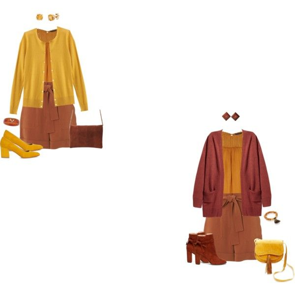 Mustard yoke blouse/rust shorts 2 by tracy-gowen on Polyvore featuring мода, Banana Republic, Dorothy Perkins, Whistles, Maryam Nassir Zadeh, Sole Society, Steven, Jonesy Wood, Palm Beach Jewelry and Kabella Jewelry