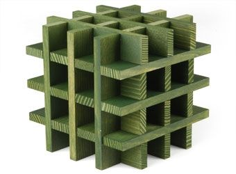 Kapla cube konstruktionsspiel / gruen