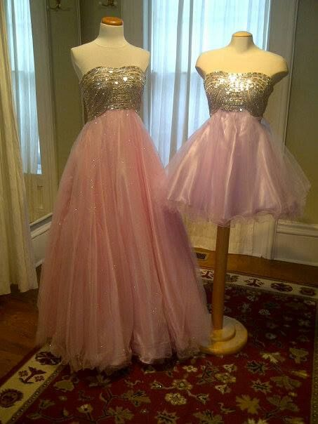 Prom dresses, long and short. In stock now.