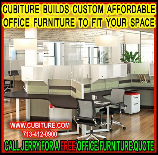 Affordable office furniture. Cubiture.com specializes in custom desks, conference tables, office chairs, and reception centers for the small business owner.