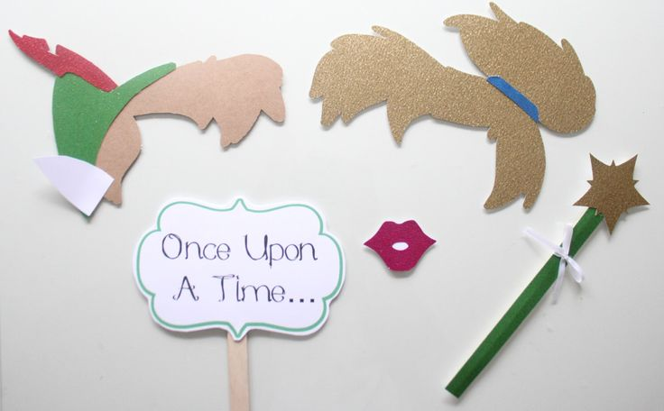 Photobooth Props - 5pc * Tinkerbell and Peter Pan Photo Booth Props/Princess Party Props/Peter Pan Props/Tinkerbell/ Tinkerbell Props/ by ThePartyGirlStudio on Etsy https://www.etsy.com/listing/219703893/photobooth-props-5pc-tinkerbell-and