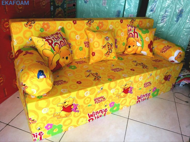 Sofa bed inoac terbaru september 2016 motif new WINNIE THE POOH saat di fungsikan sebagai SOFA inoac INOAC EKAFOAM : 0896 3610 2158 http://ekafoam.blogspot.com/