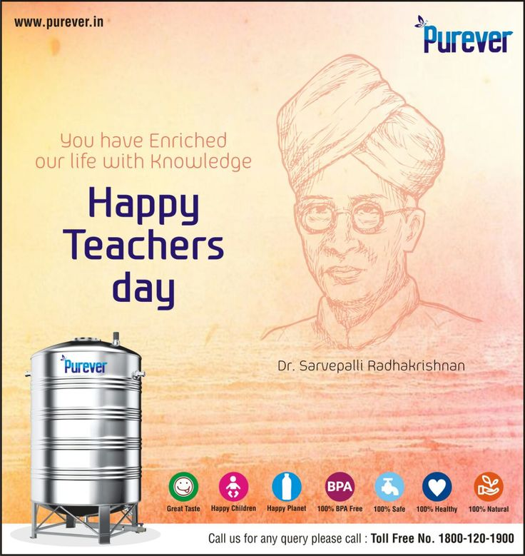 #PUREVER# Wish #you# Happy# Teachers#Day#Switch to Purever Stainless Steel Water Tank#http://www.purever.in/