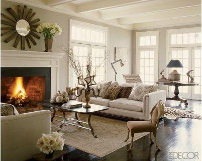 natural elements: Living Rooms, Decor Ideas, Elle Decor, Ceilings Details, Paintings Colors, French Window, Country House, Nina Griscom, Lauren Liess