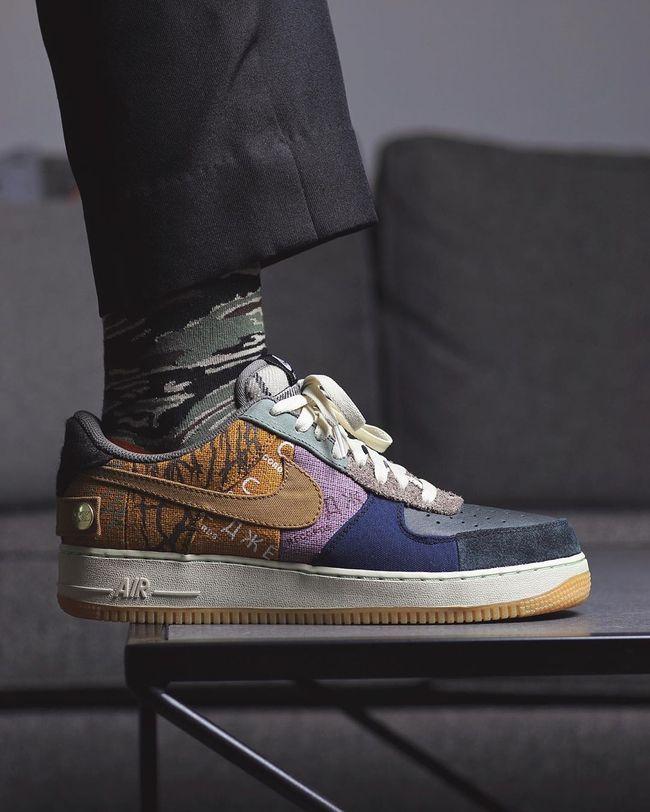 Travis Scott x Nike Air Force 1 Low Sneaker Style