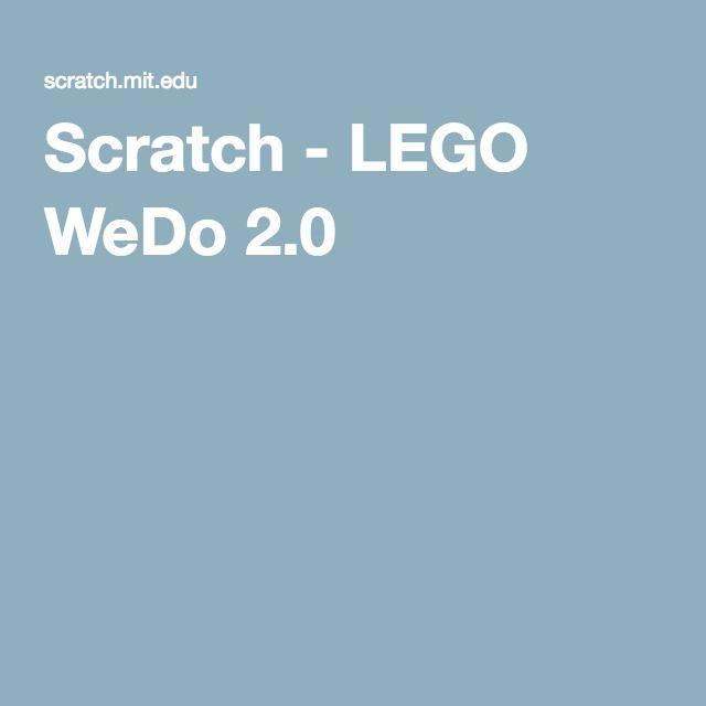 Scratch - LEGO WeDo 2.0