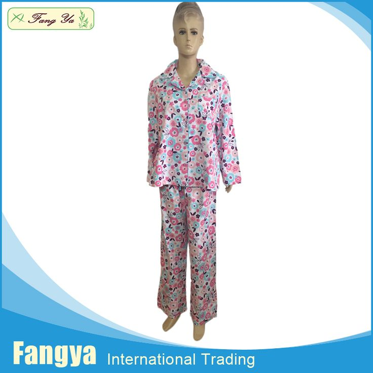 Free Sample 100% cotton flannel woven adult women footed pajamas