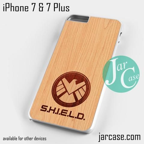 shield wood Phone case for iPhone 7 and 7 Plus