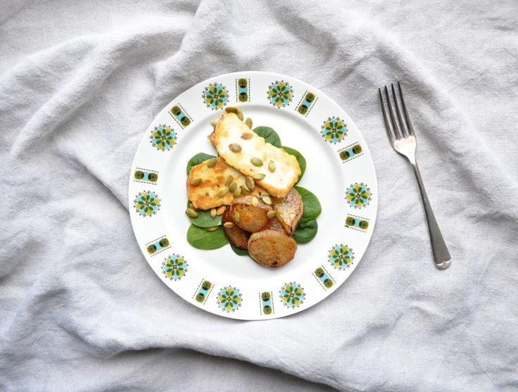 Halloumi and Buttered Pears