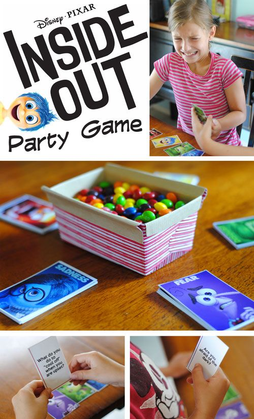 free inside out party game disney party gamesdisney partieskid - Disney Free Kids Games