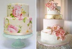 Свадебные торты с цветами.видео