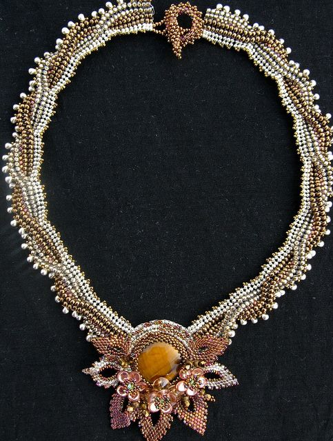 Caramel Twist Necklace by Cielo Design, via Flickr
