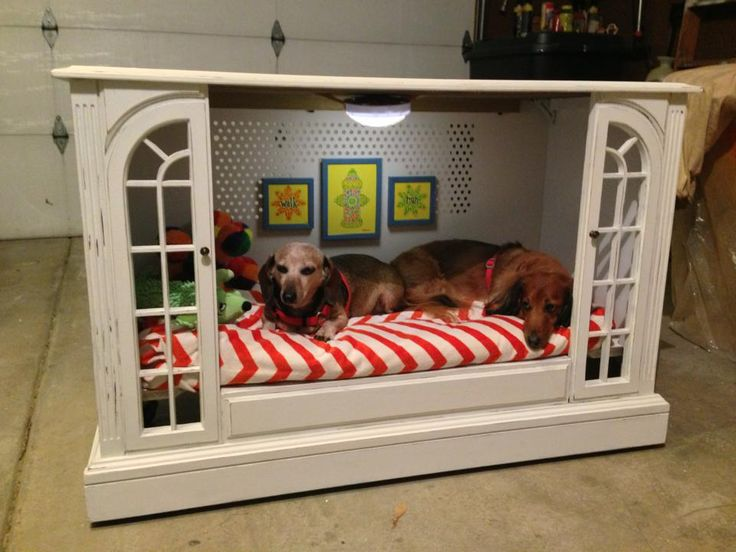 pets furniture. Upcycled TV Console To Dog Bed By Miss-Tints - Featured On Furniture Flippin\u0027-- This Could Be A Fun Project Create! Pets C