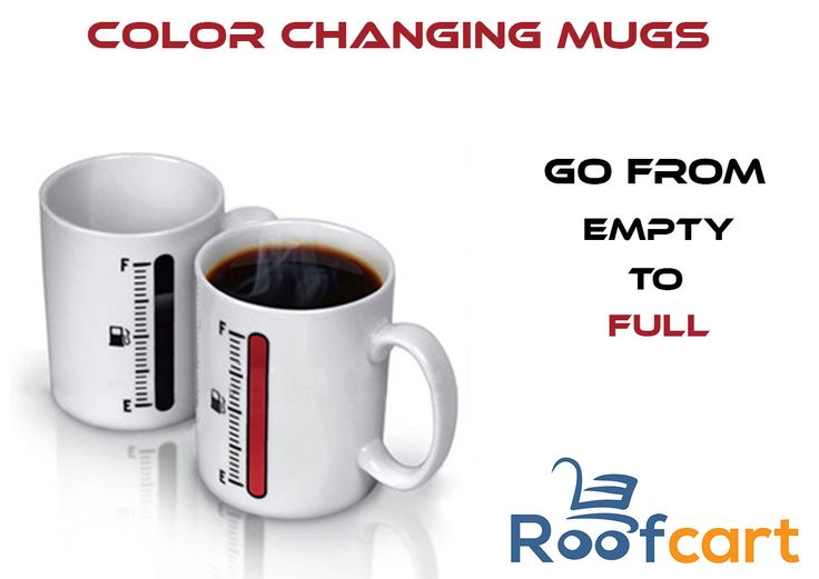 Get ready for your daily grind with these unique color changing mugs which features a heat-sensitive design that changes color when the mug temperature reaches 70˚C Keep it handy at home or on your desk at the office. Many more cute and attractive designs available at roofcart.com