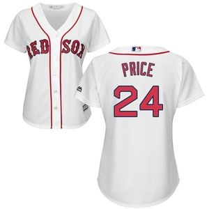Red Sox #24 David Price White Home Women's Stitched MLB Jersey
