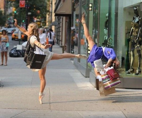 Dancing + shopping! Two of my favorite things combined!