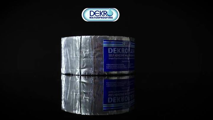 Dekro has your waterproofing solution. Now its easier than ever to fix wall joints, roof sheeting, gutters and plenty more with our self adhesive waterproofing tape. Available at Dekro outlets nationwide, or call our toll free number on 0800 222 423 or click here to see our list of stockists: http://qoo.ly/hsifw