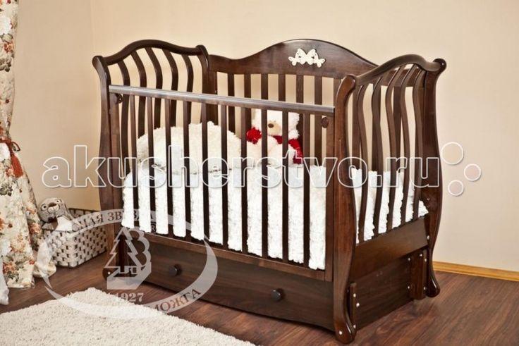 Детская кроватка Можга (Красная Звезда) Юлиана С-757 (маятник продольный)Резьба №19
