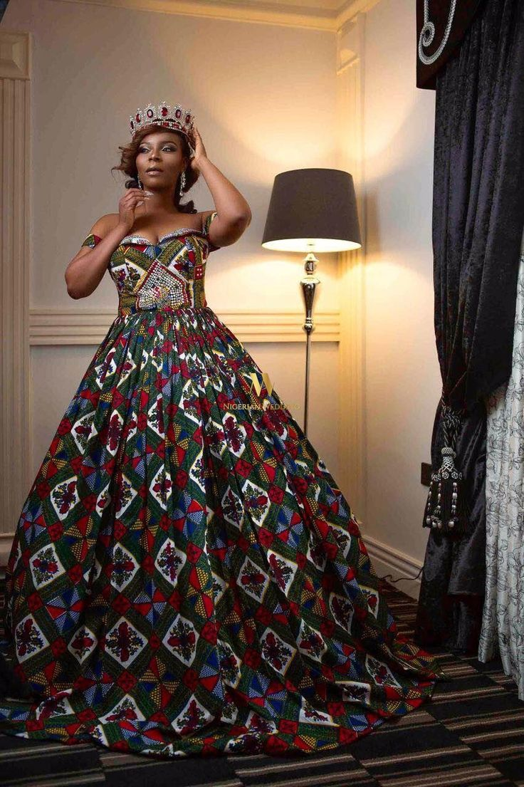 Ankara inspired wedding dress