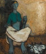 B. Prabha Paintings & Artwork for Sale   B. Prabha Art Value Price Guide