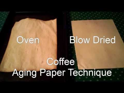 Two Techniques for Aging Paper with Coffee. Great for Journal Projects or Book of Shadows.