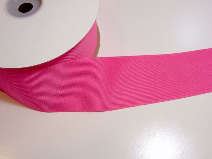 Wide Pink Ribbon, Offray Hot Pink Grosgrain Ribbon 2 1/4 inches wide x 50 yards #Offray