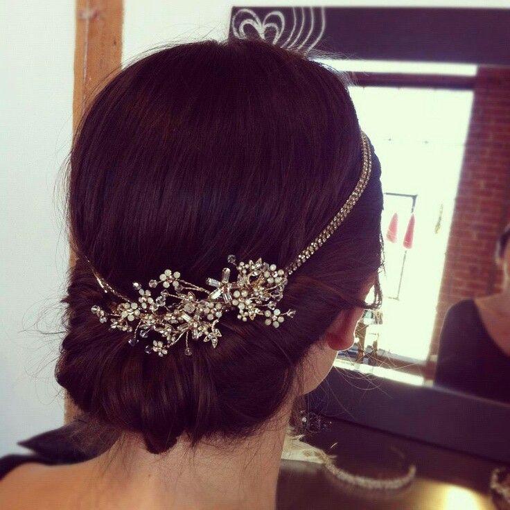 Beautiful headband with flowers