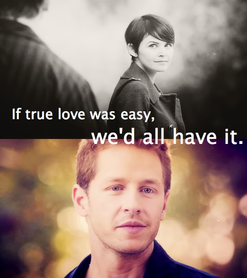 """""""If true love was easy, we'd all have it"""" David and Mary Margaret"""