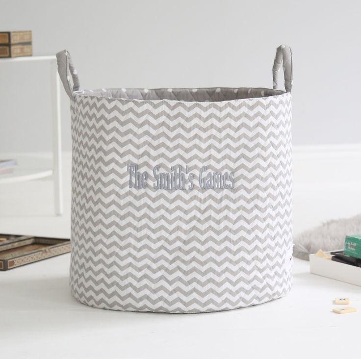 Chevron Print Storage Bag