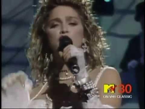 madonna : like a virgin : live mtv : 1984 :