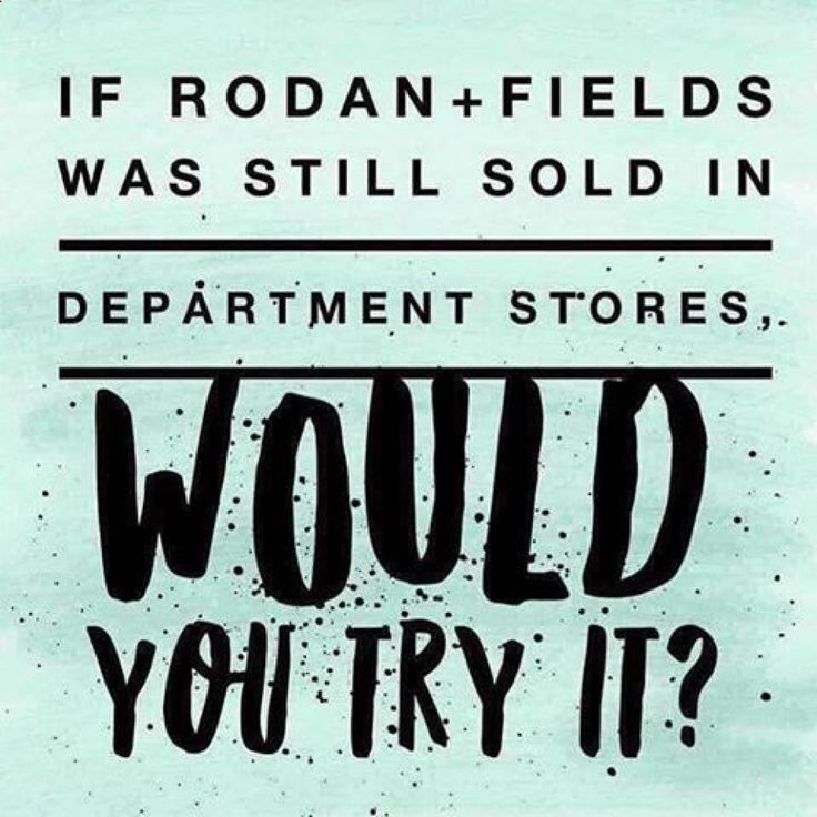 Did you know that Rodan   Fields was one of the top selling skincare brand in Nordstrom?WHAT IF Rodan   Fields products were still sold in stores like Ulta, Sephora, or Nordstrom? Would you be more willing to try them?Today, we're the #1 premium anti-aging and acne skin care brand!What sets us apart from all the other department store brands, beside the difference in our FORBES backed business model?...Our 60-day, empty bottle, money-back guarantee!Learn more: www.pinterest.com......