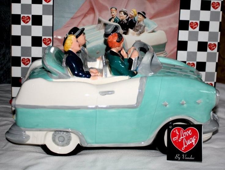 I LOVE LUCY CAR COOKIE JAR * Lucille Ball Desi Arnaz Ricky 1st 996 Vandor MIB | eBay: Desi Arnaz, 996 Vandor, Biscut Jars, Car Cookie, Ball Desi, 1St 996, Lucille Ball, Arnaz Ricky, Cookie Jars