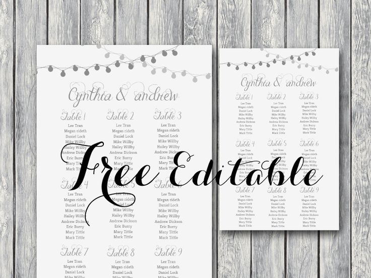 Free Night Light Wedding Chart Printable July Pinterest - Event seating chart template