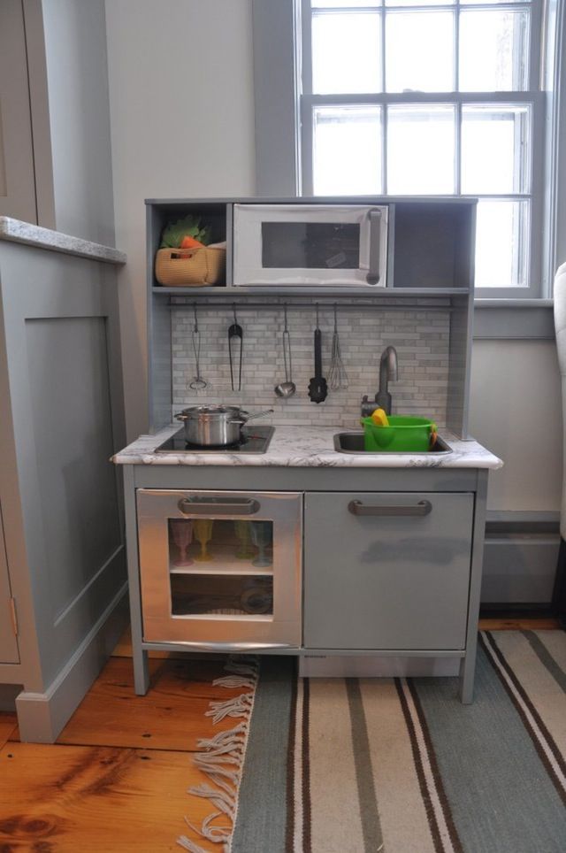 It's been about five years since IKEA introduced the DUKTIG play kitchen which is plenty of time for customers to brainstorm ways to customize this Plain Jane into something with more personality and charm. All of the tweaks these parents made are doable for even diy beginners and, I think you'll agree, make these little playspaces even more special for their kids.