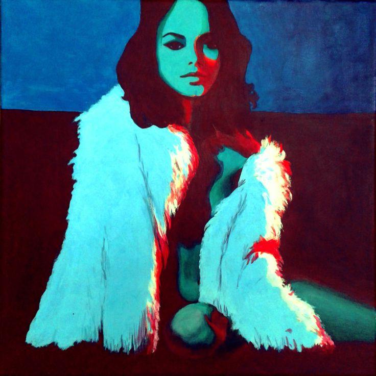neonlights - Pintura,  40x40x1,5 cm ©2016 por patai-orsi -   …