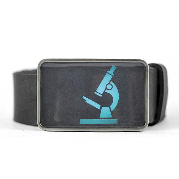 Microscope Belt Buckle, Biology Belt Buckle, Science Belt Buckle, Geek buckle