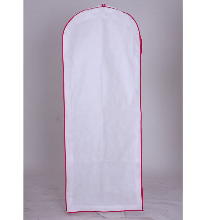 Red edged white extra length brethable bridal grown & braidsmaids garment bags,measured 155*60*10cm