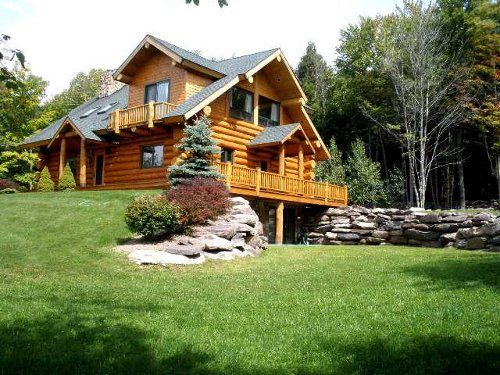 17 best images about log homes on pinterest log cabin for Modern house upstate ny