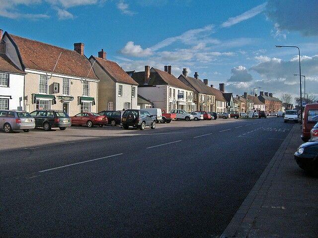 The main road through Long Melford