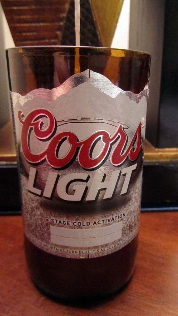 Coors Light Beer for a Rocky Mountain HIgh 12 oz  by CandlesByOC, $9.00