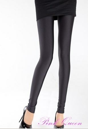 Metallic Black Leggings Stretch Metallic Foil Stockings  $18.53