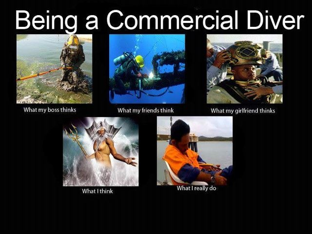 what people think of commercial diving | Commercial Diving shared Heysen Denniss photo .
