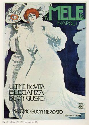 Grandi Magazzini Italiani E. & A. Mele & C. di Napoli - Arte Liberty in Italia - Marcello Dudovich - 1907