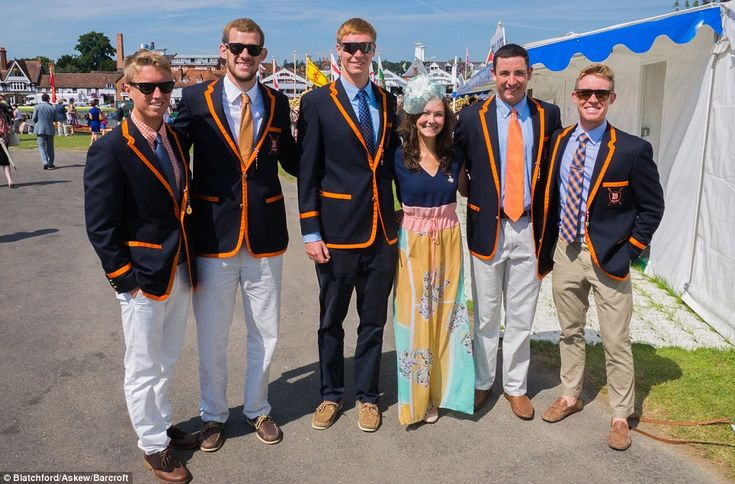 Henley Royal Regatta: These orange trimmed blazers are certainly eye-catching.