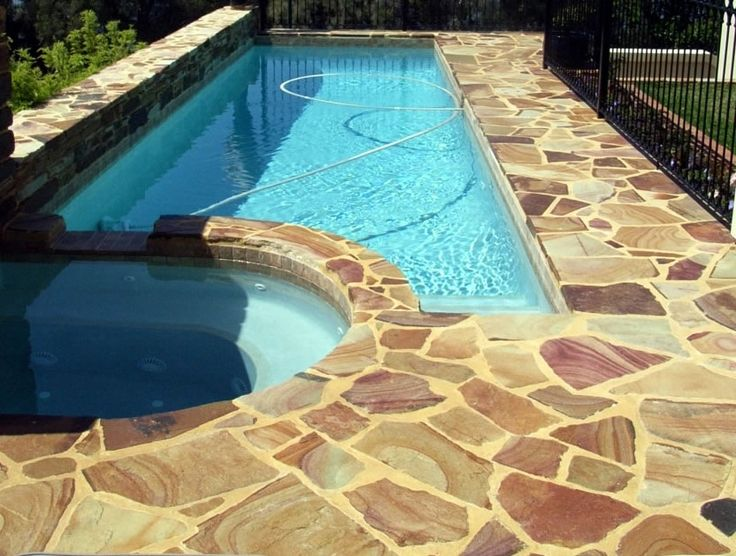 17 best images about around the pool on pinterest beach for Natural stone around pool