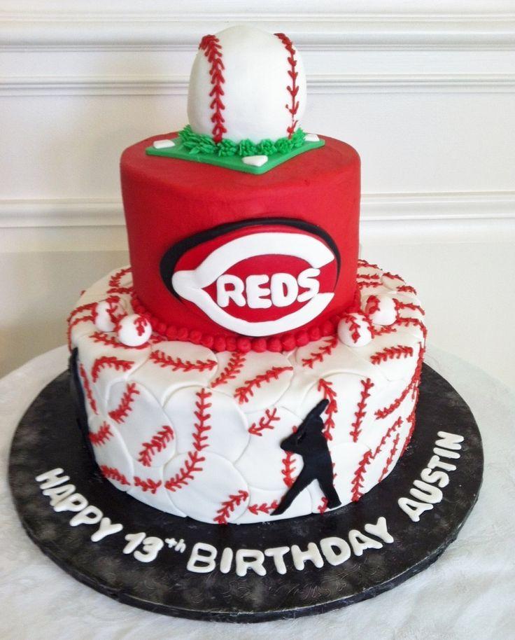 Cincinnati Red's baseball birthday cake