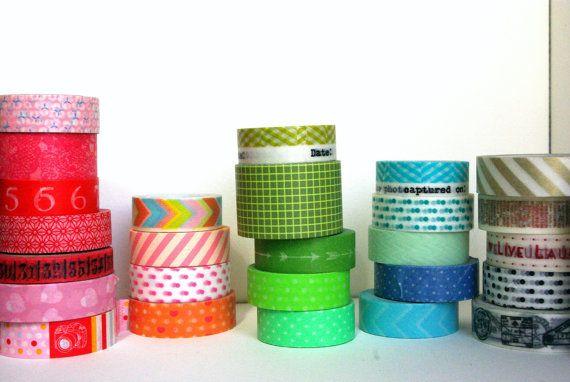 Washi Tape Sampler  5 tapes by RainbowScrapbooks on Etsy, $5.00