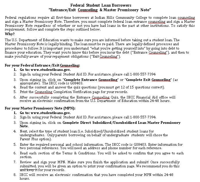 Student Loan Promissory Note Student Loan Promissory Note